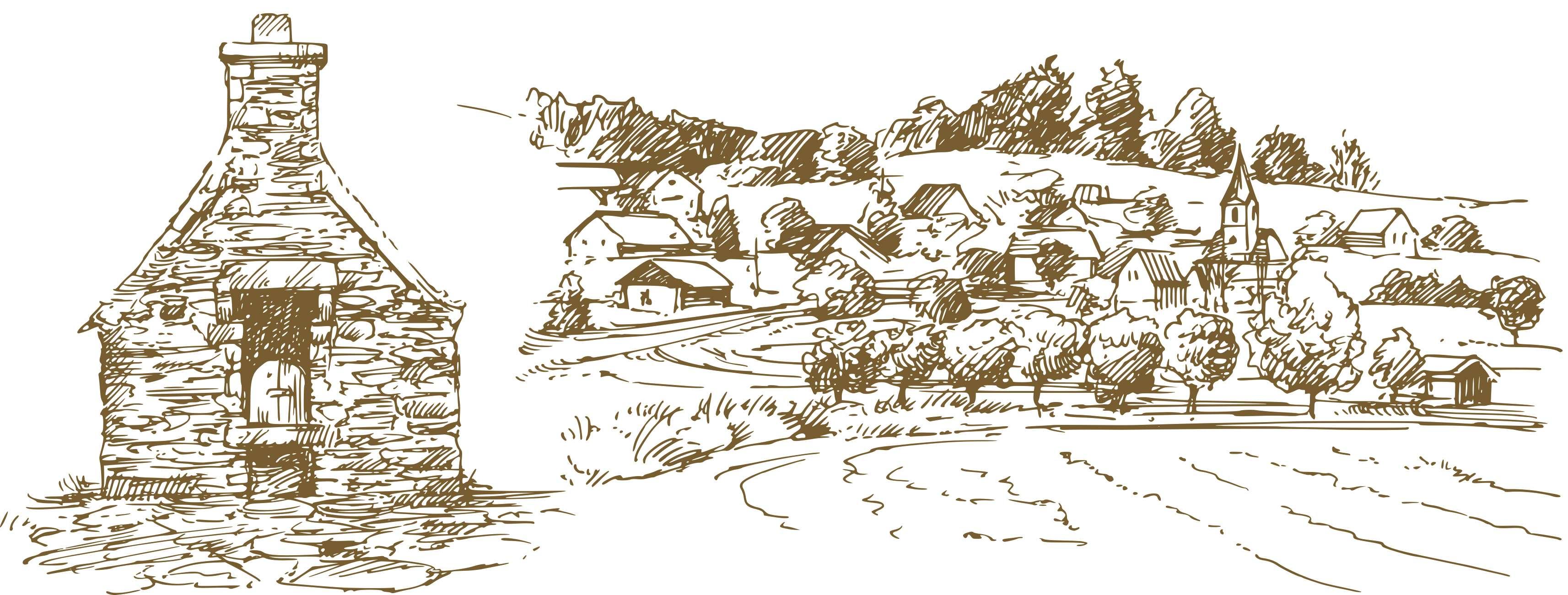 村庄可爱简笔画